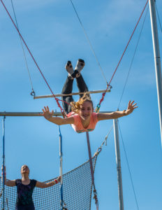 Boerne Trapeze Publicity photo shoot